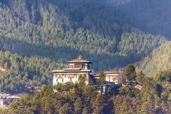 Dzongen av jakar, Bhutan Royaltyfri Foto