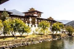Dzongen av Punakha Royaltyfri Bild