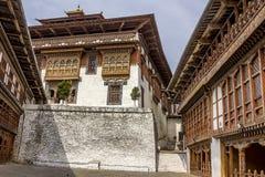 Dzongen av Trongsa Royaltyfri Fotografi