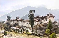 Dzongen av Trongsa Royaltyfria Foton