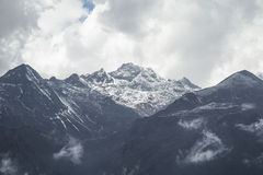 Dzongri scenisk sikkim indai Royaltyfri Bild