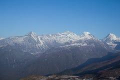 Dzongri scenisk sikkim indai Arkivfoton