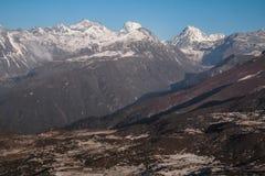 Dzongri scenisk sikkim indai Arkivfoto