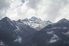 Dzongri Sikkim sceniczny indai Obraz Royalty Free