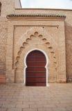 Tylny wejście Koutoubia meczet w Marrakech, Maroko zdjęcie royalty free
