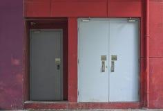 Dzwi Od Podwórza lub Tylny wejście Obraz Stock