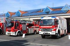 Dzwi otwarty niemieccy strażacy w Bayreuth (Bavaria) Obrazy Royalty Free