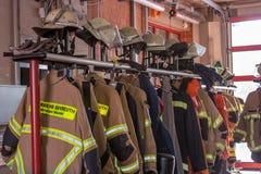 Dzwi otwarty niemieccy strażacy w Bayreuth (Bavaria) Obraz Stock