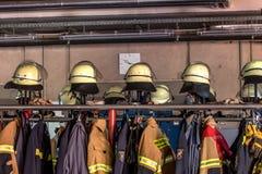 Dzwi otwarty niemieccy strażacy w Bayreuth (Bavaria) Obraz Royalty Free