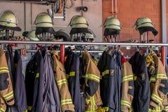 Dzwi otwarty niemieccy strażacy w Bayreuth (Bavaria) Zdjęcie Stock