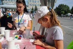 Dzwi Otwarty Sberbank dla dzieci piękno Tyumen Obraz Royalty Free