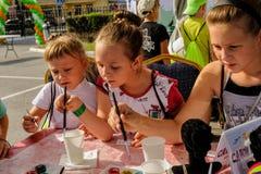 Dzwi Otwarty Sberbank dla dzieci piękno Tyumen Fotografia Royalty Free