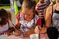 Dzwi Otwarty Sberbank dla dzieci piękno Tyumen Obraz Stock