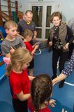 Dzwi otwarty w dziecinu Kaluga region Rosja obrazy stock