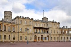 Dzwi wejściowy Uroczysty pałac w Gatchina Zdjęcia Royalty Free