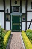 Dzwi Wejściowy w Wustrow, Darss, Niemcy Zdjęcia Stock