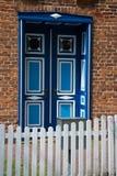 Dzwi Wejściowy w Wustrow, Darss, Niemcy Zdjęcie Royalty Free
