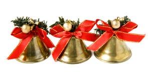 dzwonów boże narodzenia trzy Obraz Royalty Free