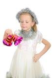 dzwonów dziewczyny ręki odosobniony biel Zdjęcie Stock