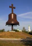 dzwonów krzyża metalu sylwetka Obraz Royalty Free