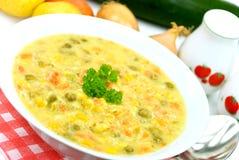 dzwon groszki peppera mieszane gulaszu zielony czerwony zupa warzywa Obrazy Royalty Free