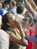 dzwoniący demonstranta egipcjanie reforma Obrazy Royalty Free