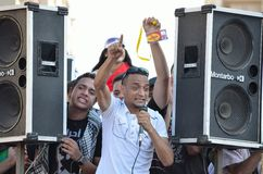 dzwoniący demonstranta egipcjanie reforma Obrazy Stock