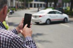 Dzwonić taxi obrazy stock