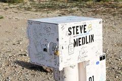 Dzwoniąca Czarna skrzynka pocztowa na SR-375, blisko Rachel Obraz Royalty Free