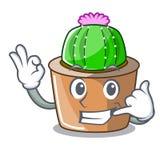Dzwoni ja maskotka gwiazdowy kaktus dekoruje w ogródzie royalty ilustracja