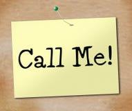 Dzwoni Ja Wskazuje telefonu znaka I Wystawia royalty ilustracja