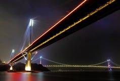 Dzwoni Kau Most i Tsing Most przy noc ma obraz royalty free