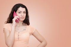 dzwoni kobiety young Obrazy Royalty Free