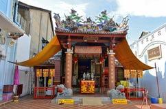 Dzwoni Kwan blaszecznicę, świątynia Spokojny światło w Phuket Starym miasteczku Zdjęcie Royalty Free