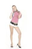 dzwoni telefon komórkowy dziewczyny Obraz Royalty Free