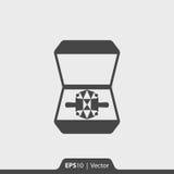 Dzwoni w pudełkowatej ikonie dla sieci i wiszącej ozdoby Zdjęcia Stock