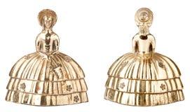 dzwonkowa mosiężna kształta rocznika kobieta obraz stock