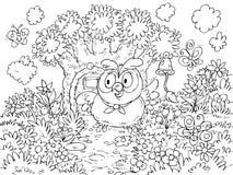 dzwonkowa wisząca sowa dzwoni drzewa Zdjęcia Stock