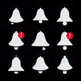 Dzwonkowe ikony Powiadomienie ikona Dzwonkowy powiadomienie dźwięk dzwon Rozsądny powiadomienie ikona dla nowej wiadomości ilustracja wektor