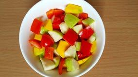 Dzwonkowi pieprze, guava i mangowa mieszanka jako sałatka, obraz stock