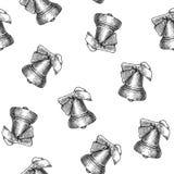 Dzwonkowy bezszwowy wzór odizolowywający na białym bacground ilustracji