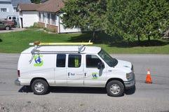 Dzwonkowy firma samochód dostawczy Obrazy Royalty Free