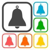 Dzwonkowy ikona set Fotografia Royalty Free