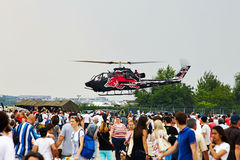 Dzwonkowy kobry AH1-F helikopter przy tendencyjnością 2015 Obraz Royalty Free