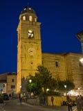 Dzwonkowy miasteczko stary miasteczko Sirolo, Conero, Marche, Włochy zdjęcia royalty free
