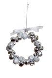 dzwonkowy ornamentu srebra wianek Zdjęcia Royalty Free
