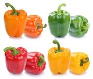 Dzwonkowy pieprz pieprzy inkasowych papryk papryk kolorowego vegetab Fotografia Stock