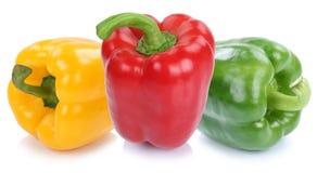 Dzwonkowy pieprz pieprzy papryk papryk jedzenia kolorowego jarzynowego iso Obrazy Stock