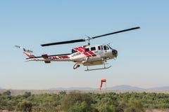 Dzwonkowy UH-1H helikopter podczas Los Angeles Amerykańskich bohaterów Wietrzy Sho Obraz Royalty Free