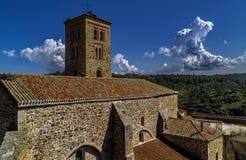 Dzwonkowy wierza Średniowieczny miasteczko zdjęcia royalty free